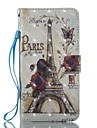 For Case Cover Card Holder Wallet with Stand Flip Pattern Full Body Case Eiffel Tower Hard PU Leather for Samsung Galaxy J7 (2016) J7