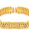 Муж. Геометрический принт Браслеты-цепочки и звенья / Браслет - Нержавеющая сталь, Позолота Мода, Хип-хоп Браслеты Золотой Назначение Повседневные