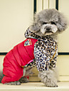 Dog Coat Sweatshirt Jumpsuit Puffer / Down Jacket Dog Clothes Casual/Daily Keep Warm Sports Leopard Orange Yellow Red Costume For Pets