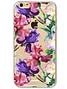 Para iPhone 7 iPhone 7 Plus Case Tampa Ultra-Fina Transparente Estampada Capa Traseira Capinha Flor Macia PUT para Apple iPhone 7 Plus