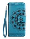 Coque Pour Samsung Galaxy J7 (2017) J5 (2017) J3 (2017) Portefeuille Porte Carte Clapet Relief Motif Coque Integrale Mandala Fleur Dur