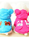 Cat Dog Coat Puffer / Down Jacket Dog Clothes Warm Keep Warm Cartoon Red Blue Costume For Pets