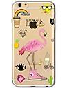제품 iPhone X iPhone 8 케이스 커버 울트라 씬 투명 패턴 뒷면 커버 케이스 플라밍고 소프트 TPU 용 Apple iPhone X iPhone 8 Plus iPhone 8 아이폰 7 플러스 아이폰 (7) iPhone 6s Plus