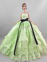 Party/Evening Dresses For Barbie Doll Light Green Dress For Girl\'s Doll Toy