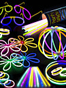100 Glow Stick Party Pack - 100 Mixed Color 8 Premium Glowsticks with Connectors to Make Bracelets Glasses Flowers Balls and More - Bulk Wholesale