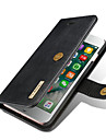 For iPhone X iPhone 8 Plus Case Cover Wallet Card Holder with Stand Flip Full Body Case Solid Color Hard Genuine Leather for Apple iPhone