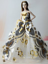 드레스 드레스 에 대한 바비 인형 골든 드레스 에 대한 여자의 인형 장난감
