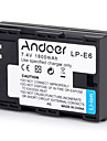 Andoer LP-E6 Rechargeable Replacement Camera Camcorder Li-ion Lithium Battery Full Coded 1800mAh High Capacity for Canon EOS 5D Mark II 5D Mark III 5D