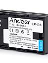 andoer lp-e6 перезаряжаемая камера для замены камеры литий-ионная литиевая батарея полная кодированная 1800mah большая емкость для canon
