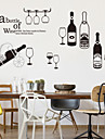 Fashion Food & Beverage Wall Stickers Plane Wall Stickers Decorative Wall Stickers, Plastic Home Decoration Wall Decal Wall
