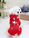 Dog Coat Dog Clothes Breathable Stylish Unique Design Keep Warm Leisure Fashion Geometric Stars Fuchsia Red Blue Costume For Pets