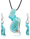 Жен. Комплект ювелирных изделий - Включают Серьги-слезки Ожерелья с подвесками Синий Назначение Для вечеринок Повседневные