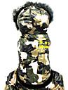 Chien Combinaison-pantalon Vetements pour Chien Geometrique Couleur camouflage Terylene / Coton Costume Pour les animaux domestiques