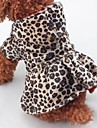 Christmas Dog Clothes Leopard Leopard Cotton Costume For Pets One Piece Keep Warm