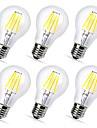 6шт 4 W 360 lm E26 / E27 LED лампы накаливания A60(A19) 4 Светодиодные бусины COB Декоративная Тёплый белый / Холодный белый 220-240 V