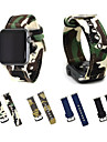 For Apple Watch iWatch  series 3 2 1 Camouflage Canvas Woven Bracelet Wrist Strap with Metal Clasp Adapter