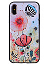 Pour iPhone X iPhone 8 Etuis coque Motif Coque Arriere Coque Fleur Flexible Silicone pour Apple iPhone X iPhone 8 Plus iPhone 8 iPhone 7