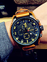 Men\'s Fashion Watch Wrist watch Casual Watch Japanese Quartz Calendar Leather Band Vintage Camouflage Cool Casual Black Brown
