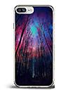 Кейс для Назначение Apple iPhone X iPhone 8 Ультратонкий С узором Задняя крышка Цвет неба дерево Мягкий TPU для iPhone X iPhone 8 Plus