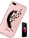 Case For Apple iPhone X iPhone 8 Plus Transparent Pattern Back Cover Feathers Soft TPU for iPhone X iPhone 8 Plus iPhone 8 iPhone 7 Plus