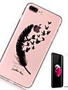 Coque Pour Apple iPhone X iPhone 8 Plus Transparente Motif Coque Plumes Flexible TPU pour iPhone X iPhone 8 Plus iPhone 8 iPhone 7 Plus