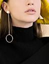 Hoop Earrings Dangle Earrings Jewelry Copper Circular Dangling Style Pendant Fashion Personalized Euramerican Round Gold Silvery Jewelry