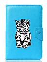 Case For Full Body Cases Tablet Cases Cat Cartoon Hard PU Leather for