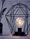 1pc LED Minimalism Iron Art Night Light E14 Diamond/Cylinder Shape Battery Powered Without Battery