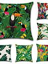 6 pcs Coton/Lin Taie d\'oreiller Housse de coussin, arbres/Feuilles Classique Nouveaute Classique Tropical Neoclassique Euro