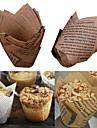 50 pcs tasses de cuisson gobelets en papier gobelets etanches a la graisse muffin cuisine cas moule couleur aleatoire