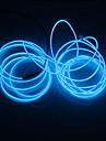 brelong® 2m neon filo elettroluminescente stringa luci rosso / blu / verde decorativo per la festa