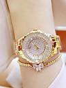 Damen Uhr Luxus-Armbanduhren Armbanduhr Diamond Watch Japanisch Quartz Edelstahl Silber / Gold 30 m Armbanduhren fuer den Alltag Analog damas Charme Gold Silber