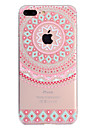 Capinha Para Apple iPhone X iPhone 8 Plus Transparente Estampada Capa Traseira Mandala Macia TPU para iPhone X iPhone 8 Plus iPhone 8