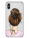 Pour iPhone X iPhone 8 iPhone 6 iPhone 6 Plus Etuis coque Ultrafine Motif Coque Arriere Coque Femme Sexy Flexible PUT pour Apple iPhone X
