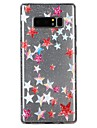 Case For Samsung Galaxy Note 8 Translucent Pattern Embossed Varnish Back Cover Glitter Shine Cartoon Soft TPU for Note 8