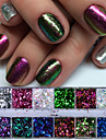 1set / 1pc Glitter Powder Sequins nail art Manicure Pedicure Classic Daily