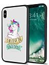 Capinha Para Apple iPhone X iPhone 8 Plus Estampada Capa Traseira Unicornio Desenho Animado Macia TPU para iPhone X iPhone 8 Plus iPhone