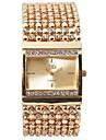 Damen Uhr Luxus-Armbanduhren Armband-Uhr Einzigartige kreative Uhr Quartz Edelstahl Silber / Gold Wasserdicht Chronograph Armbanduhren fuer den Alltag Analog Armreif Elegant Weihnachten Gold Silber