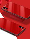 Coque Pour Apple iPhone X iPhone 8 Antichoc Miroir Coque Arriere Couleur unie Dur Verre Trempe pour iPhone X iPhone 8 Plus iPhone 8