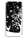 Coque Pour Apple iPhone X iPhone 8 Transparente Motif Coque Noel Flexible TPU pour iPhone X iPhone 8 Plus iPhone 8 iPhone 7 Plus iPhone 7