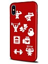 Capinha Para Apple iPhone X iPhone 8 Plus Estampada Capa traseira Azulejo Macia TPU para iPhone X iPhone 8 Plus iPhone 8 iPhone 7 Plus