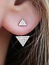 Mulheres Brincos Curtos Gema Simples Adoravel Fashion Liga Triangulo Joias Diario Trabalho