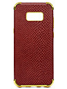 Capinha Para Samsung Galaxy S8 Plus S8 Antichoque Galvanizado Estampada Capa traseira Cor Solida Macia PU Leather para S8 Plus S8 S7 edge