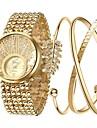 Damen Uhr Luxus-Armbanduhren Armband-Uhr Goldene Uhr Legierung Gold Chronograph leuchtend Imitation Diamant Analog damas Luxus Glanz Elegant Gold / Ein Jahr / Edelstahl / Grosses Ziffernblatt
