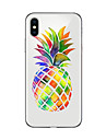 Capinha Para Apple iPhone X iPhone 8 Plus Transparente Estampada Capa traseira Fruta Macia TPU para iPhone X iPhone 8 Plus iPhone 8