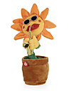 Dancing Flower Enchanting Sunflower with Saxophone Soft Stuffed Plush Toys Funny Electric Toys for Kids Gift