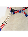 Dog Leash Portable Camouflage Color Flag Bone Terylene Red Green Blue Pink Camouflage Color