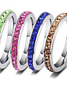Men\'s Women\'s Band Rings Fashion Stainless Steel Jewelry Daily