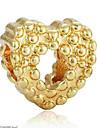 Ювелирные изделия DIY 1 штук Бусины Сплав Золотой Серебряный Сердце Шарик 0.2 cm DIY Ожерелье Браслеты