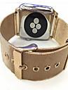 Pulseiras de Relogio para Apple Watch Series 3 / 2 / 1 Apple Pulseira Estilo Milanes Aco Inoxidavel Tira de Pulso
